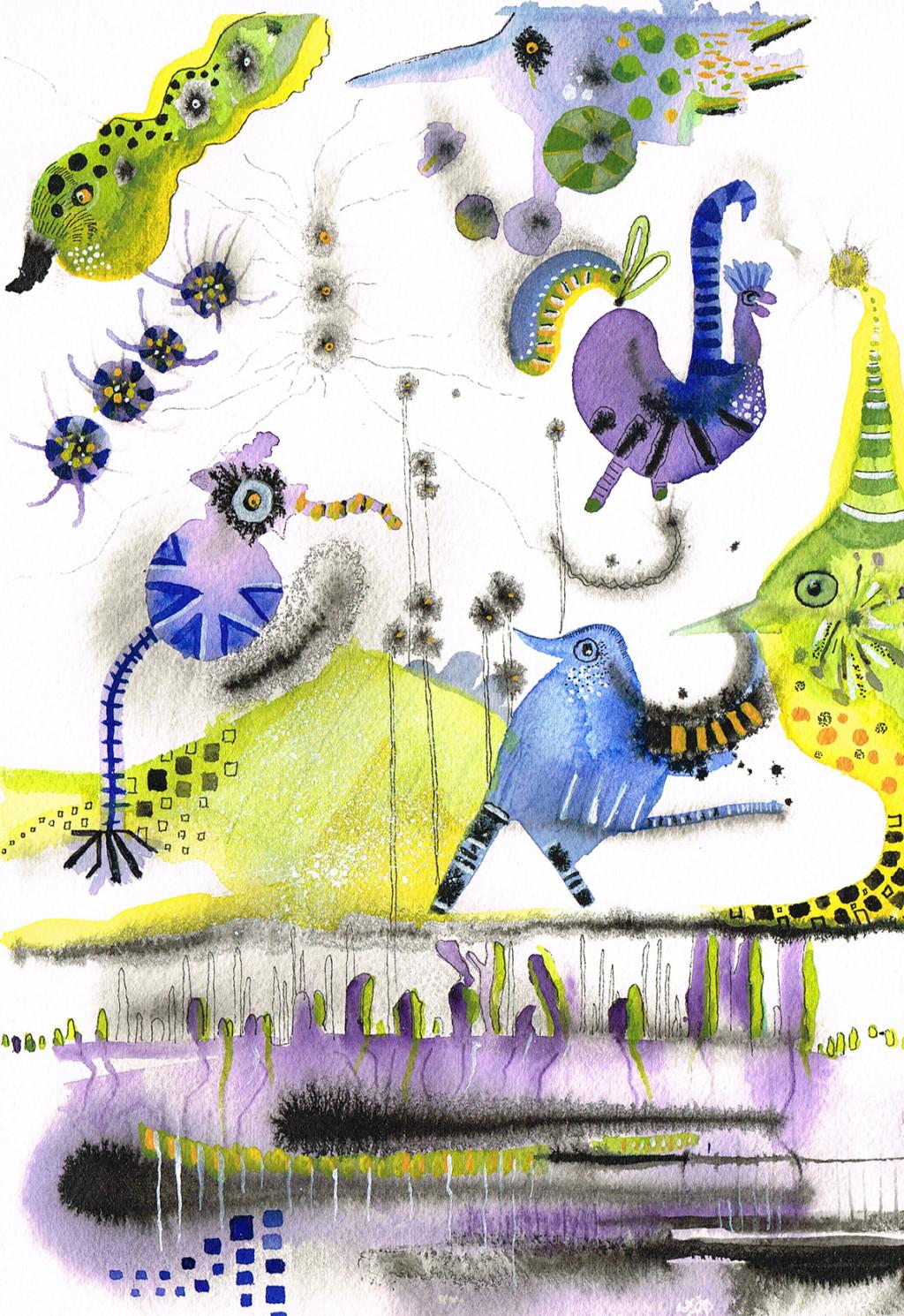 Carla van der Kooi website Aquarel